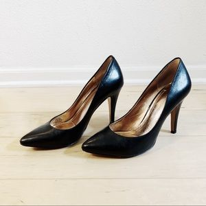 BGBG Generation Black Leather Stilleto Heels